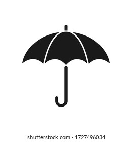 Umbrella flat vector icon isolated on white background.