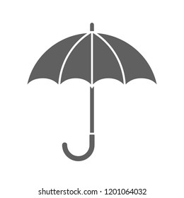 Umbrella icon. Graphic sign umbrella. Gray symbol umbrella isolated on white background. Stock vector illustration