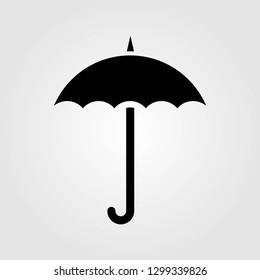 Umbrella icon isolated on white background. Vector illustration.