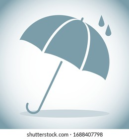 Umbrella, umbrella icon isolated on white background with shadow. Vector illustration. Vector.