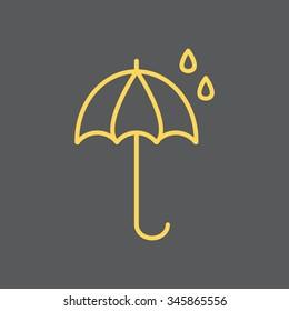 umbrella icon line