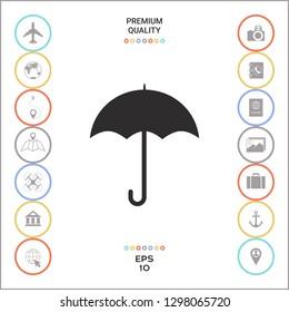 Umbrella icon symbol. Graphic elements for your design