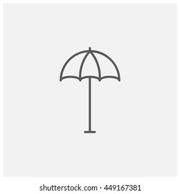 Umbrella icon, Vector
