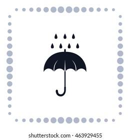Umbrella icon, vector design
