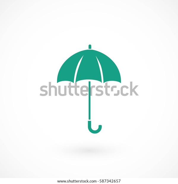 Umbrella icon vector, flat design best vector icon