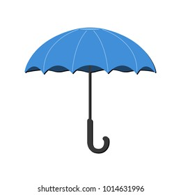 Umbrella Icon. Weather label for Web on white background. Cartoon Vector Illustration