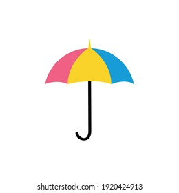 Umbrella isolated on a white background. Vector illustration.