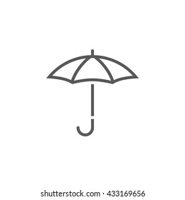 Umbrella line icon, outline vector logo, linear pictogram isolated on white, forecast weather symbol