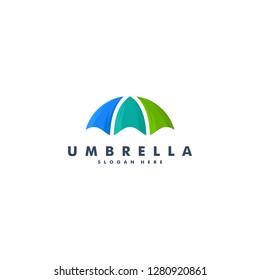 umbrella logo design, icon vector