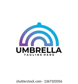 umbrella logo icon