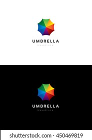 Umbrella logo template.