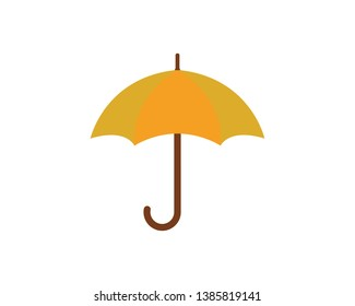 Umbrella logo template vector icon illustration design
