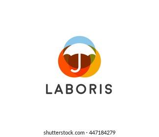 Umbrella logotype. Safety vector logo design
