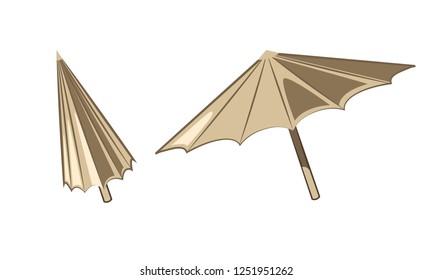 Umbrella / Parasol isolated - simple element vector illustration