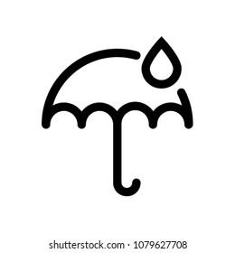 umbrella rain drop icon vector pictogram symbol