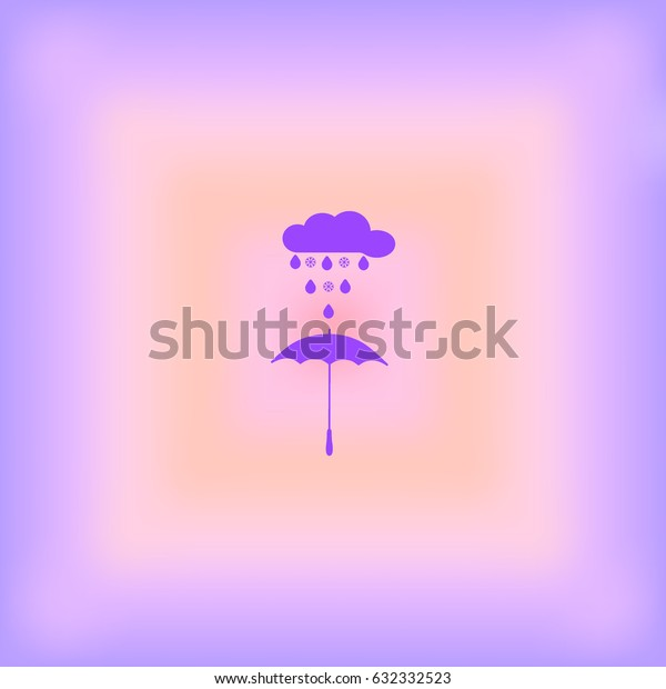 umbrella, rain, snow, vector, icon