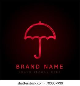 Umbrella red chromium metallic logo