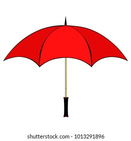 umbrella side view of rain  vector illustration