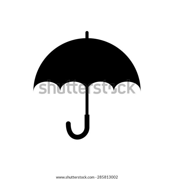 976759f53b4e8 Umbrella Silhouette Stock Vector (Royalty Free) 285813002