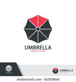 Umbrella symbol icon design isolated on white background. Vector illustration, Logo template design.