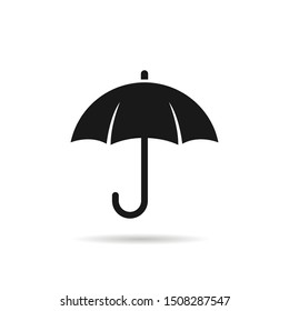 Umbrella symbol icon logo design isolated on white background. Vector illustration, Logo template design