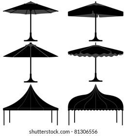 umbrella tent gazebo canopy camp silhouette