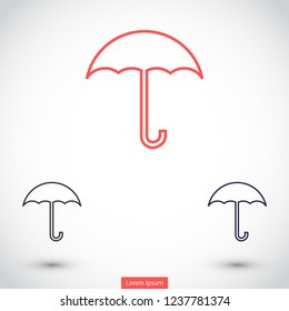 umbrella vector icon 10 eps