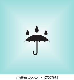 Umbrella vector icon. Isolated waterproof vector sign. Umbrella vector illustration logo. Water proof vector sign.