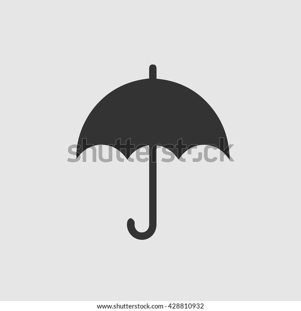 Umbrella Vector Icon Simple Isolated Symbol Stock Vector
