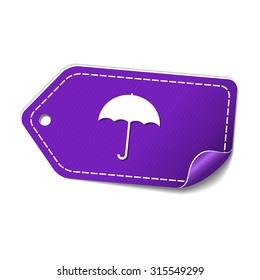 Umbrella Violet Vector Icon Design