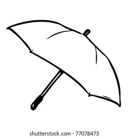 An umbrella you can color yourself and put your own logo on.