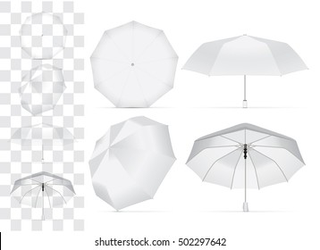 umbrella for your design and logo. Easy to change colors. Mock up. EPS 10