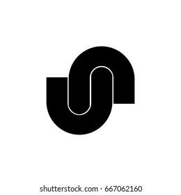 un abstract letter logo