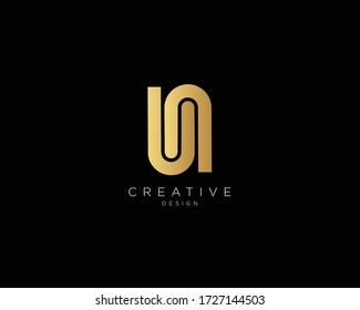 UN Logo Design , Creative Minimalist Letter UN Logo Design
