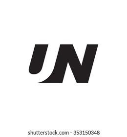 UN negative space letter logo