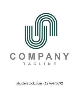 un, nu initials company logo
