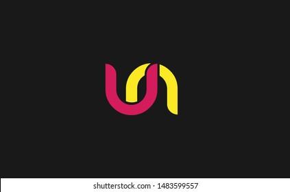 un, nu Letter Logo, Icon, Vector element design