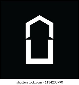 un, uv, nu, uv initials company logo