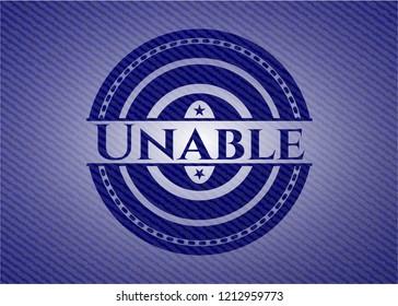 Unable jean or denim emblem or badge background