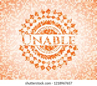 Unable orange mosaic emblem