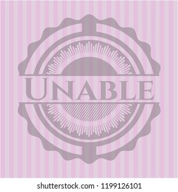 Unable vintage pink emblem