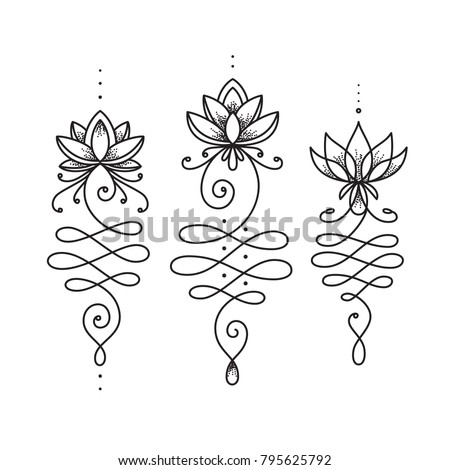 Unalome lotus flower symbol buddhism life stock vector royalty free unalome lotus flower symbol buddhism life path sign spiritual sacred geometry image tattoo mightylinksfo