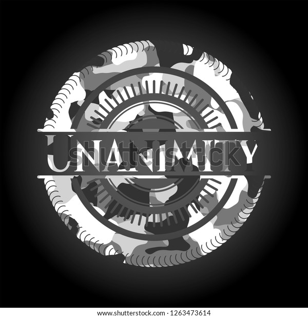 Unanimity On Grey Camo Pattern Abstract Stock Image