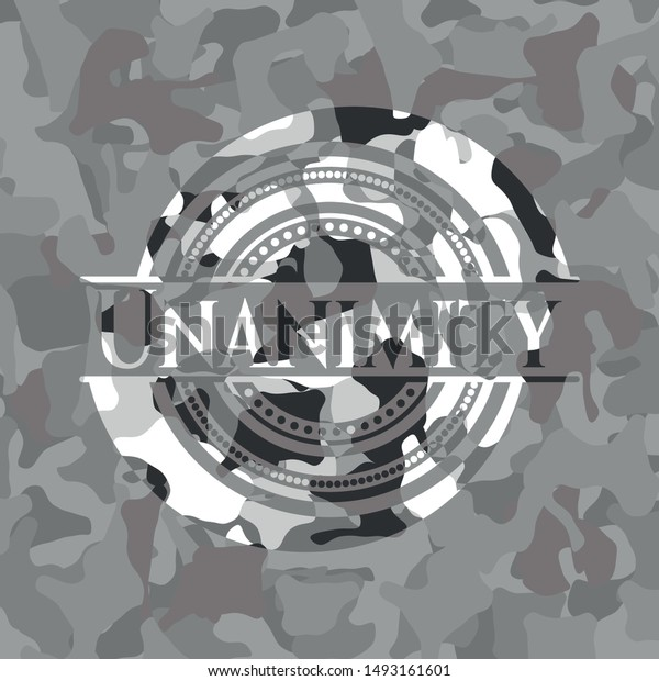 Unanimity On Grey Camo Texture Stock Vector Royalty Free