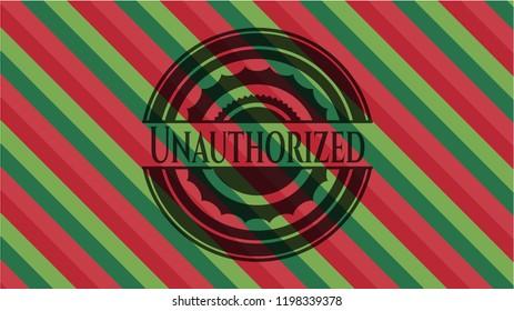 Unauthorized christmas style emblem.