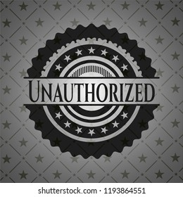 Unauthorized dark emblem. Retro
