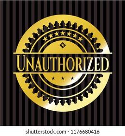 Unauthorized gold badge or emblem