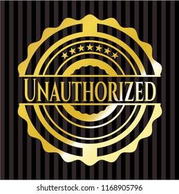 Unauthorized gold emblem or badge