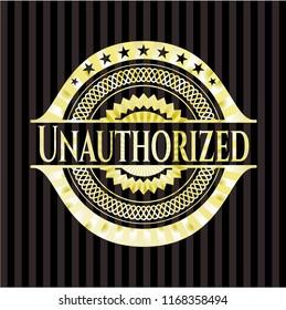 Unauthorized gold shiny badge