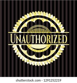 Unauthorized golden emblem